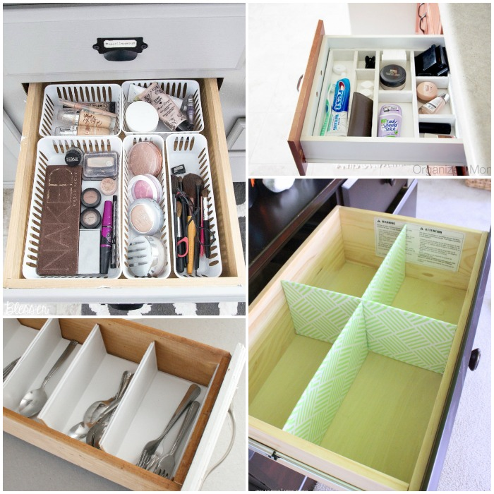 Use your drawers to free up counter space