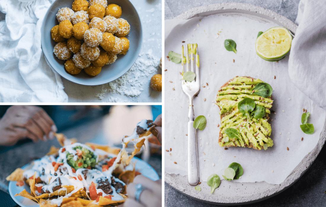 Keto, nachos, snacks, toast, avocado, brown cookie dough