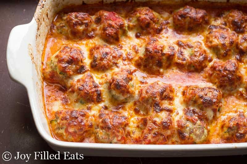 keto meal prep for a month, meatball, casserole, italian, cheese, parm