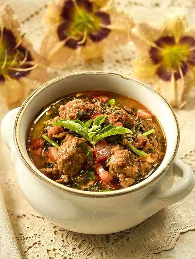 Keto Instant Pot Sausage Kale Soup