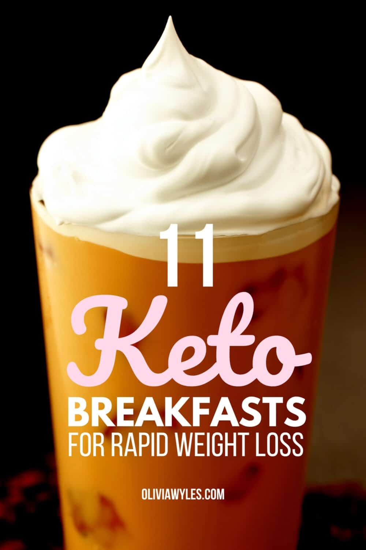 Keto breakfast coffee