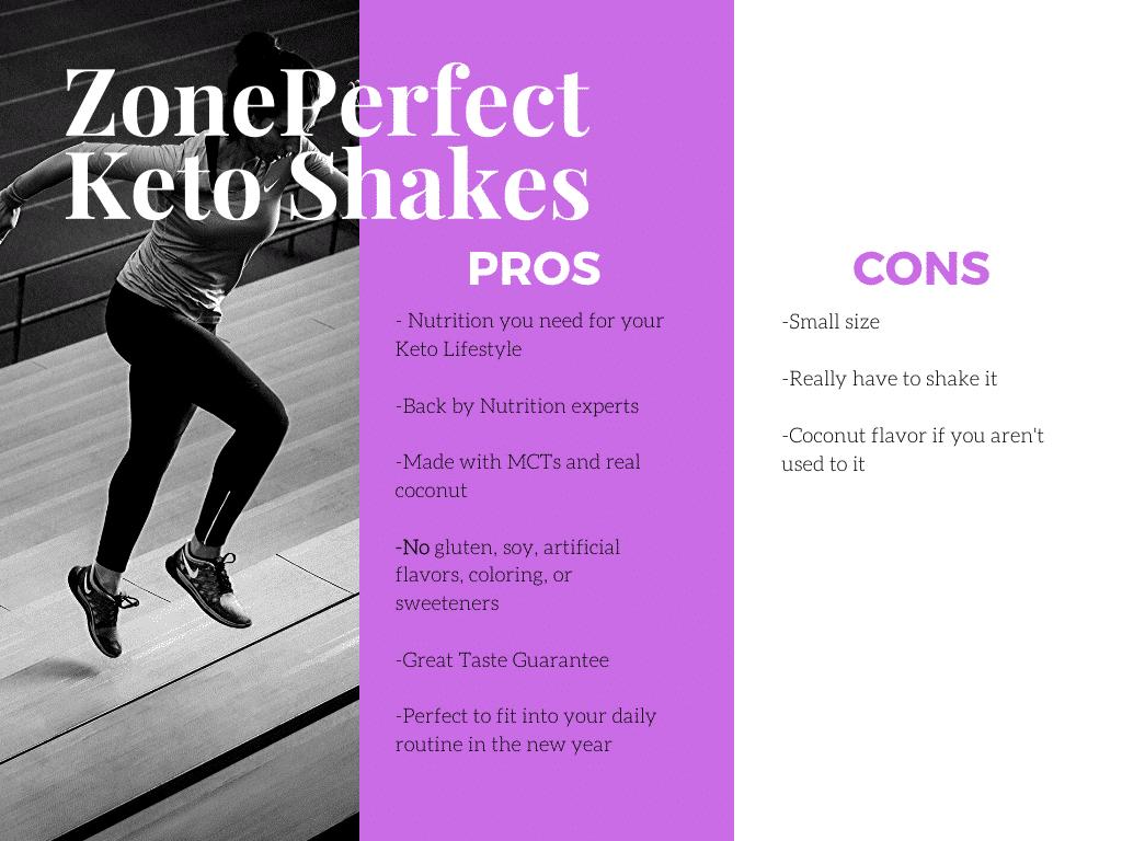 ZonePerfect Keto Shakes Pro/Con List