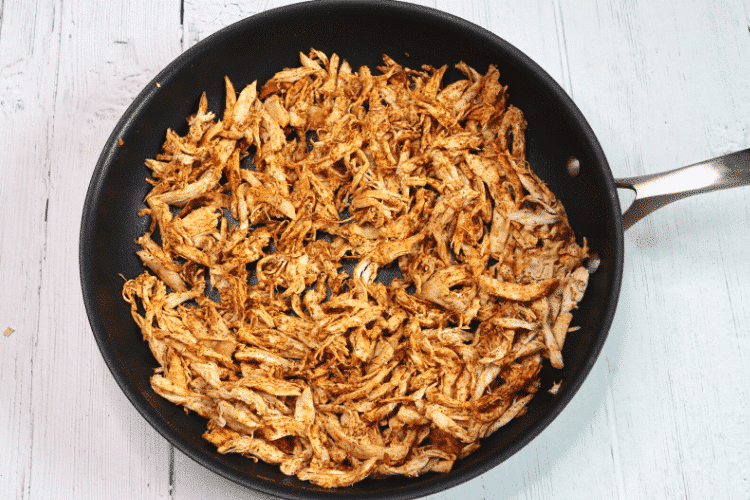 Shredded chicken with low carb seasoning mixed in