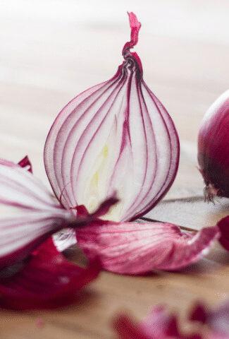 purple onion ready for keto meal prep