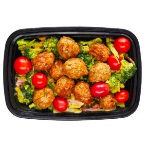 keto meal prep meatballs tomatoes broccoli save time