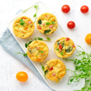 Quick & Easy Keto Recipes - easy egg bites on a plate