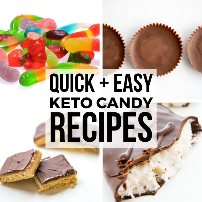 keto candy collage